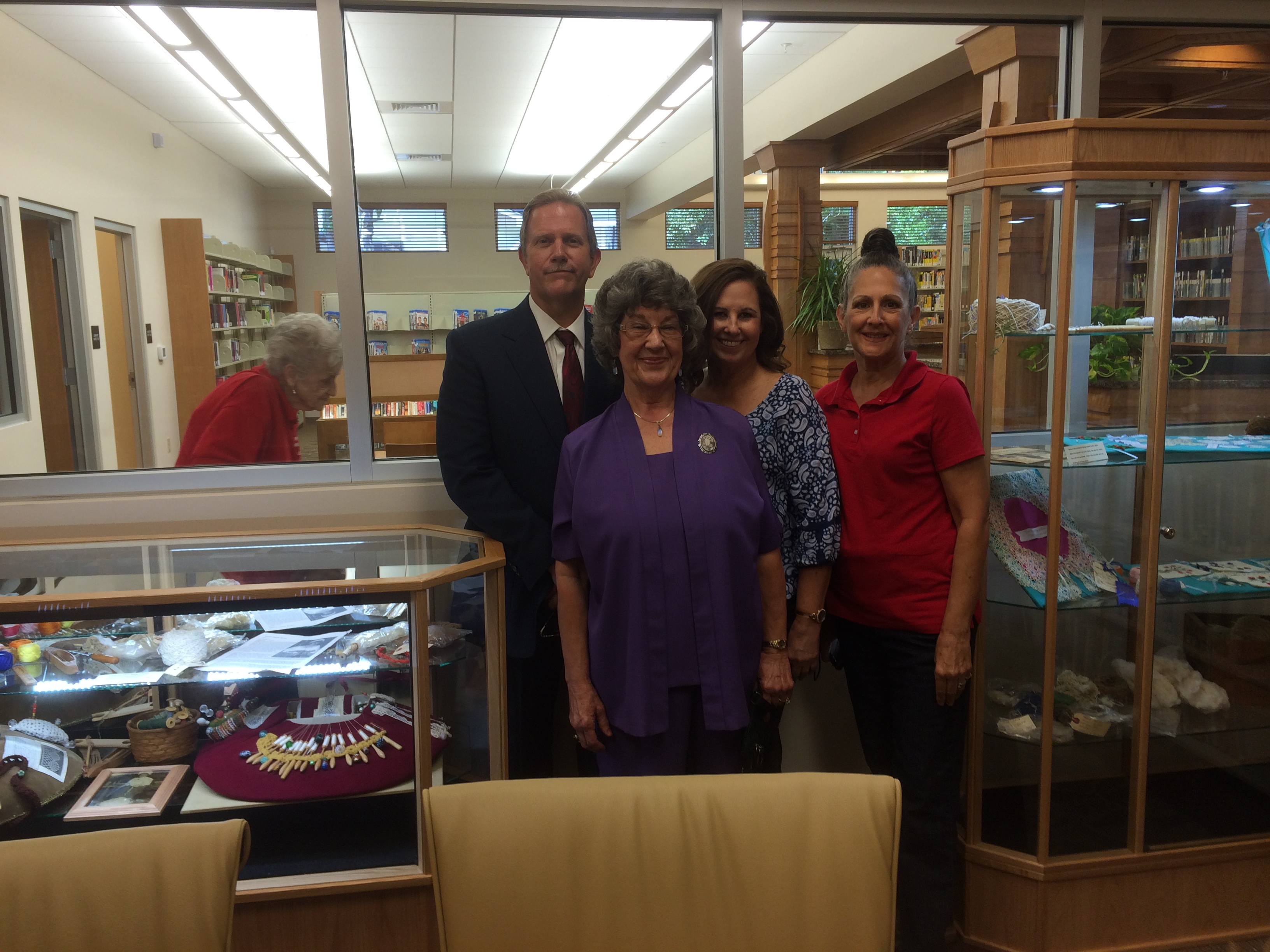 History Room Displays with Director Trey Lewis, Betty Comer and Carolyn Byles.